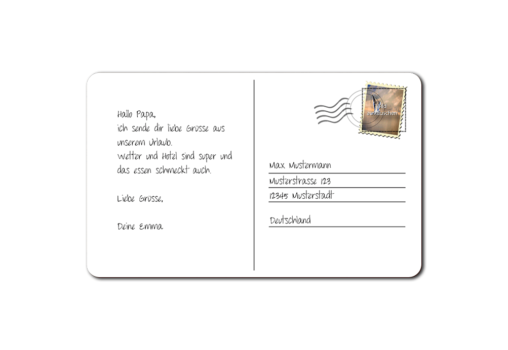 """Frühstücksbrettchen """"Postkarte"""""""